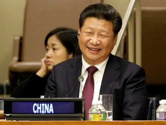 Chinese President Xi Jinping attends a meeting on gender