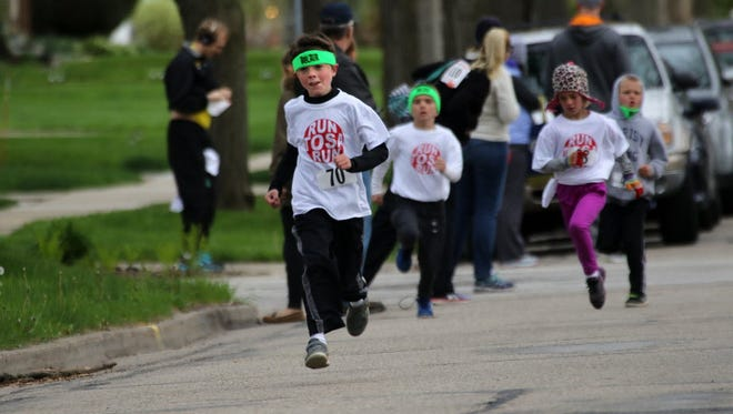 It was 41 degrees during the Run Tosa Run kids run in 2016. Hopefully, it will be a little warmer at this year's run on May 19.