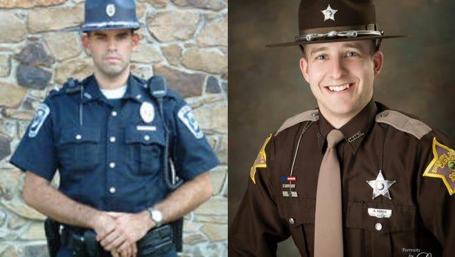 Officer Joshua Disinger (left), Deputy Drew Yoder (right).