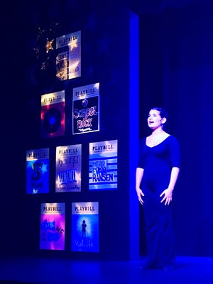"""Charlotte Krieger, 15, of PalmBeach garens, sings a Lin-Manuel Miranda ballad in StarStruck's """"Broadway Kids."""" Peter and Jennifer Jones conceived the idea of """"Broadway Kids"""" 18 years ago. But instead of presenting the same songs every time, they're based on what's popular with their students."""