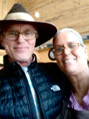 Actor Ed Harris took a photo with fan Patti Yurko Wakeford