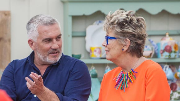 "Paul and Prue on ""The Great British Baking Show."""