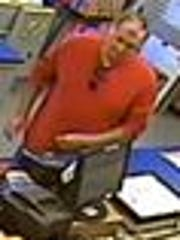 This is a close-up of a man sought by Laurel Police Department after he allegedly stole an envelope full of cash Monday at the Laurel Post Office.