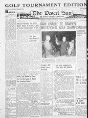 Front page of Feb. 2 - Feb. 9, 1940 Desert Sun 'Golf
