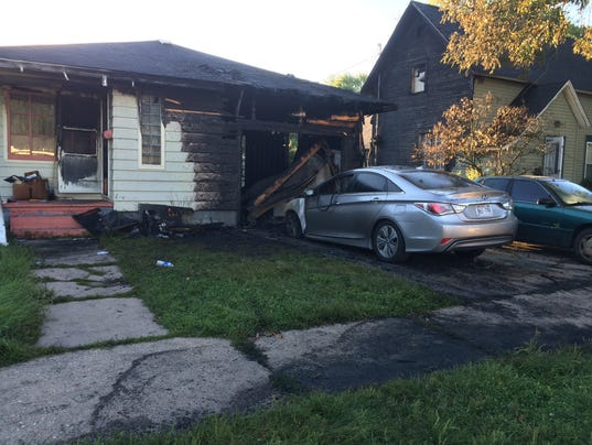 Fire displaces two families