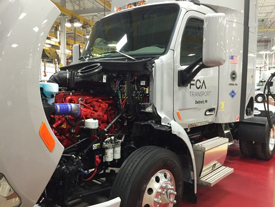 A CNG powered parts truck for FCA