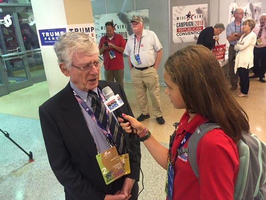 12-year-old Shorewood journalist covers the Republican National Convention