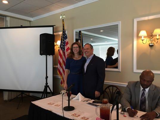 Leon County Commissioner Kristin Dozier and City Commissioner Scott Maddox