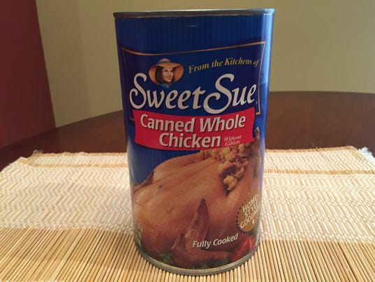 Whole chicken in a can