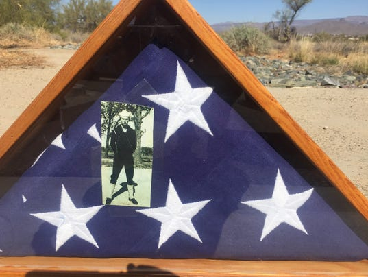 Found military burial flag