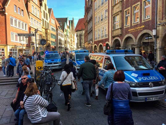 Van crashes into pedestrians in Germany