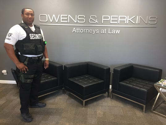 Owens and Perkins adds armed guard