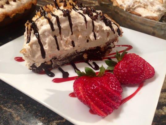Mile-High Peanut Butter-Brownie Pie Recipe — Dishmaps