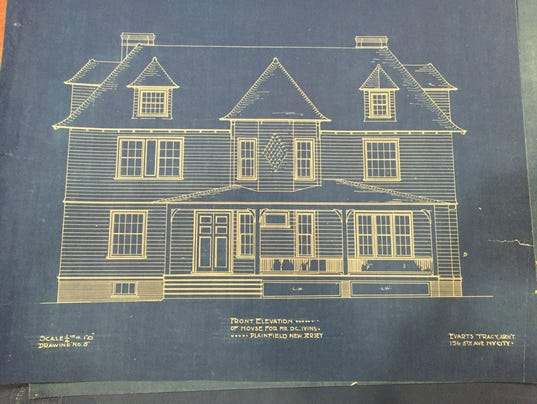 Plainfield library selling stunning historic blueprints for How to get blueprints of your house