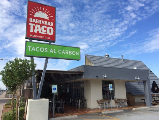 backyard taco a locally owned mexican food restaurant that has