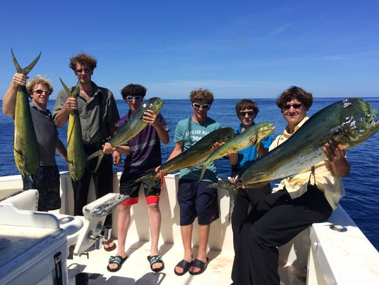 Shore fishing charter returns with big haul of mahi mahi for Nj shore fishing