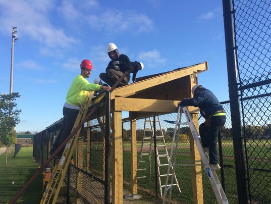 Brown Deer Students Build Dugouts For Baseball Team