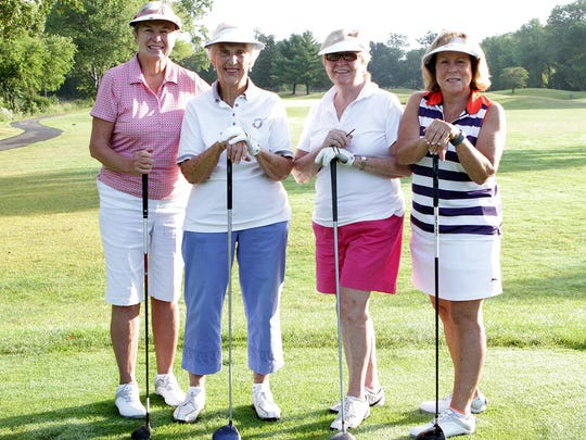 Ellie Braun, 92, from Hackettstown, second from left,