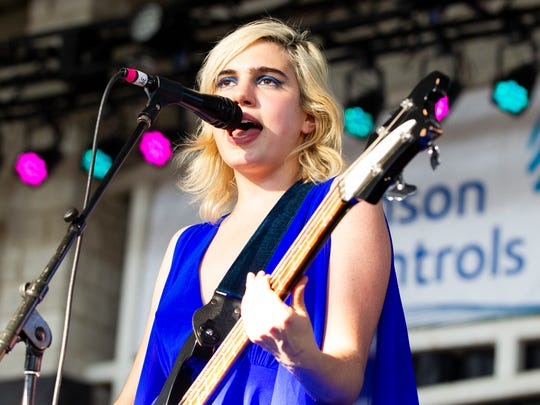 Sunflower Bean performs at the Johnson Controls World