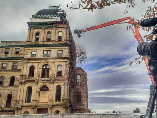 Cameras record the demolition of Greystone Park Psychiatric