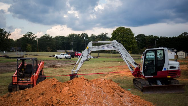 Evidence that work has begun to expand Concrete Primary School was seen in late September. Anderson School District 1, which includes Concrete Primary, continues to see growth in Powdersville.