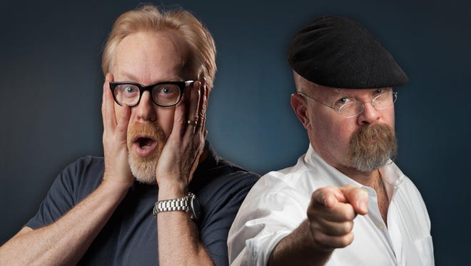 "Adam Savage and Jamie Hyneman from ""Mythbusters."""