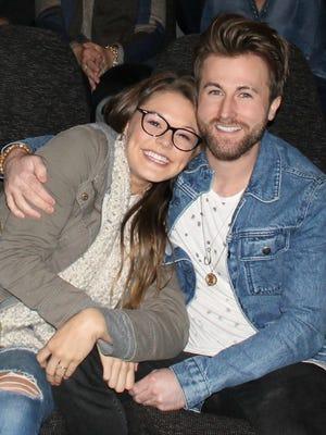 Caroline Glaser and Colton Swon got engaged Saturday.