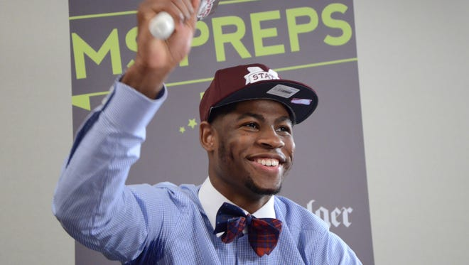 Malik Newman rings a cowbell April 24, 2015 beginning a year at Mississippi State few predicted.