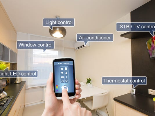 Home control system on a smart phone.