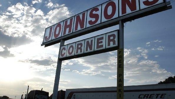 Johnson's Corner, off I-25 east of Loveland, is a popular truck stop.