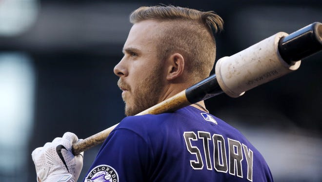 Colorado rookie Trevor Story tied a major league rookie record with 10 home runs in April. Since May 1, Story has hit seven home runs.