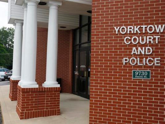 Yorktown old police courts building