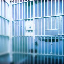 Stock image of jail cell.