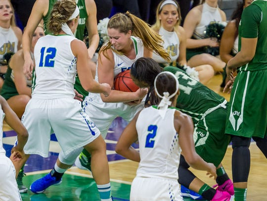 Sixth-year FGCU senior guard Taylor Gradinjan is one