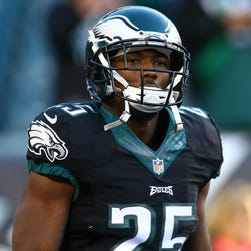 Philadelphia Eagles running back LeSean McCoy (25) before the game against the Seattle Seahawks at Lincoln Financial Field.