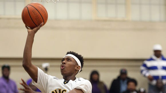 McQuaid guard Thomas Jones averaged 12 points and five rebounds last season as a sophomore.
