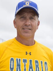 Ontario football coach Chris Hawkins led the Warriors