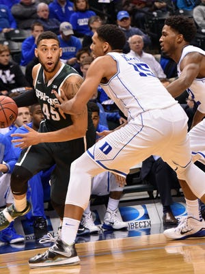 Michigan State is hoping junior guard Denzel Valentine can shake an early-season slump.