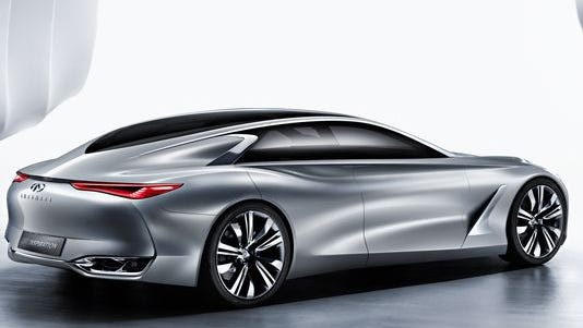 Infiniti is unveiling its Q80 Inspiration at the Paris Motor Show