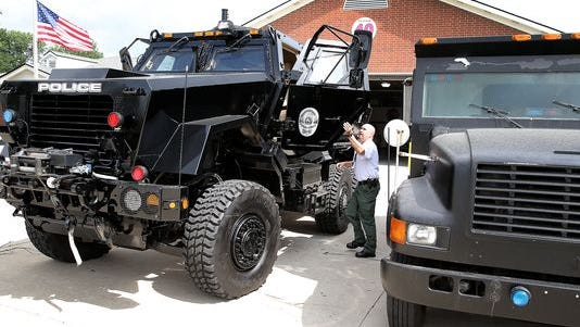 The Lawrence Police Department this summer acquired a new MRAP (mine-resistant armored protection) vehicle for its SWAT team through the military surplus program.