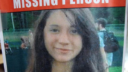 Abigail Hernandez is shown on a poster.