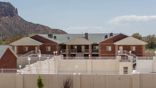 A 2013 photo shows a large home intended for the family of Warren Jeffs in Hildale, Utah.