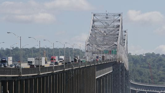 Scenes from the ongoing construction of the new Tappan Zee bridge, photographed Sept. 10, 2014.