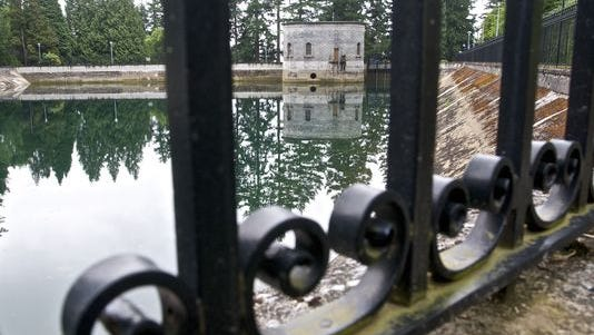 The 7.5 million gallons of Mount Tabor Reservoir No. 1 in Portland, Ore., shown here in June 20, 2011, were drained in that year because a man urinated in the water.