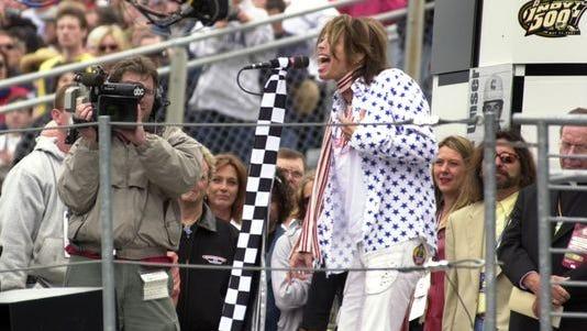 """Steven Tyler sings the """"Star-Spangled Banner."""""""