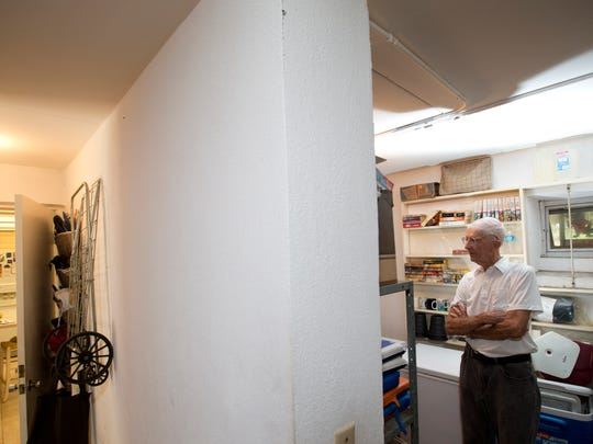 Retired civil engineer Stanley Ink has a fallout shelter in his North Fort Myers home that dates to the 1960s. Ink happened to be a civil defense volunteer in Lee County during the era of the Cuban Missile Crisis in October 1962.  It now serves as storage room and hurricane shelter.  The walls of shelter are 12 inches thick and made from cement.