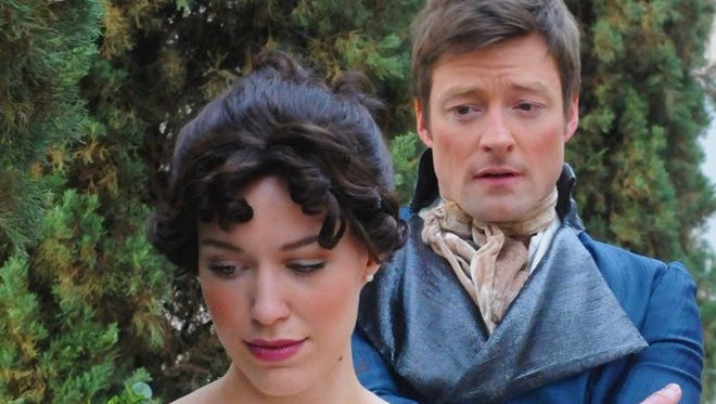 """Southwest Shakespeare's """"Pride@Prejudice"""" features Alison Campbell as Elizabeth Bennet and Kyle Sorrell as Mr. Darcy."""