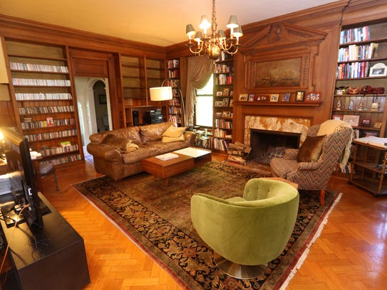 One of the may rooms in this huge house at 1005 East