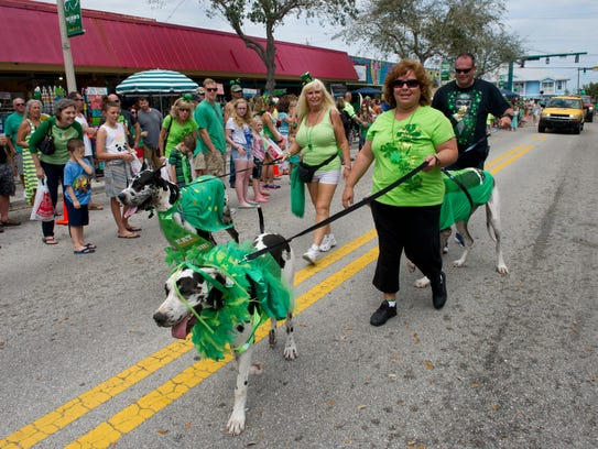 The St. Patrick's Day celebration is 11 a.m. to  4