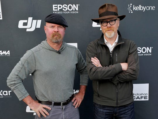 Jamie Hyneman, left, and Adam Savage will perform on April 19 at the Murat Theatre in Old National Centre.
